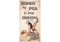 Bohemia Gifts Dekoračné obraz na zavesenie Domov bez psa 20 x 40 cm