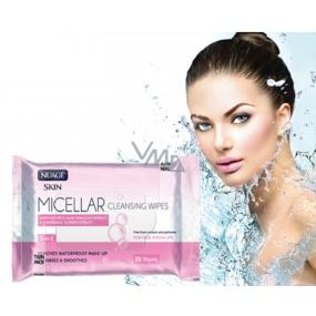 Nuage Micellar Aloe Vera, vitamín E & extrakt z harmančeka 3v1 micelárny vlhčené obrúsky 25 kusov