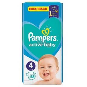 Pampers Active Baby Maxi Pack 4 9-14 kg plienkové nohavičky 58 kusov
