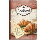 Ditipo Kniha na recepty s doskou, croissant 17 x 24 cm