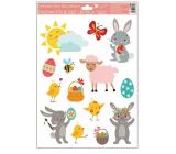 Okenné fólie Veselé Velikonoce ovečka 33,5 x 26 cm