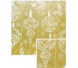 Nekupto Darčekový baliaci papier vianočné 70 x 200 cm Zlatý biele banky