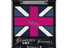 Rimmel London Glam Eyes HD Eyeshadow oční stíny 008 True Union Jack 2,5 g