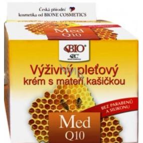 Bione Cosmetics Med a Q10 výživný pleťový krém s mateří kašičkou 51 ml
