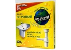 Bio-Enzym Bio-P3 Biologický přípravek ke zprůchodnění ucpaných trubek a omezuje zápach, obnovuje přírodní rozkladový proces 100 g