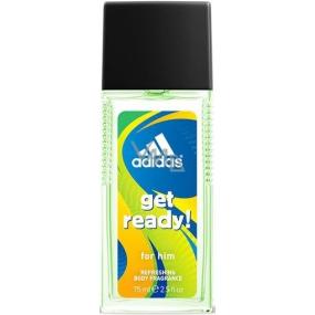 Adidas Get Ready! for Him parfumovaný deodorant sklo 75 ml