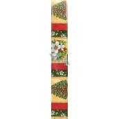 Nekupto Vánoční balicí papír červený Zelená kytka 2 x 0,7 m