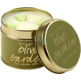 Bomb Cosmetics Olivová záhrada Vonná prírodné, ručne vyrobená sviečka v plechovej dóze horí až 35 hodín
