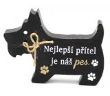 Nekupto Maznáčikovia Drevená ceduľka Najlepší priateľ je náš pes 12 x 9 x 1,5 cm