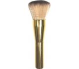 Kosmetický štětec na pudr zlatá rukojeť světlý vlas 15,5 cm 066