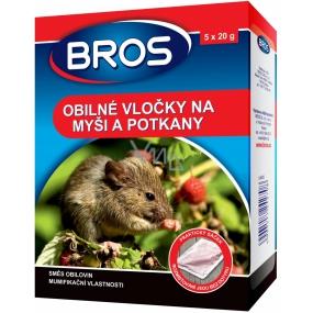 Bros Na myši a potkany obilné vločky 5 x 20 g