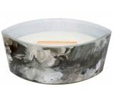WoodWick Black Amber & Citrus - Černá ambra a citrus Artisan vonná svíčka s dřevěným širokým knotem a víčkem sklo loď 453 g