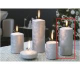 Lima Ľadová sviečka strieborná valec 60 x 120 mm 1 kus
