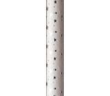 Zowie Darčekový baliaci papier 70 x 150 cm Vianočný Luxusné White Christmas biely - strieborné hviezdičky
