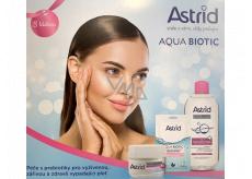 Astrid Aqua Biotic denný a nočný krém 50 ml + micelárna voda 400 ml + textilný maska 20 ml, kozmetická sada