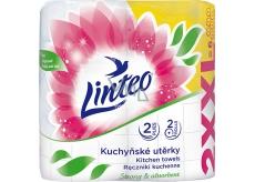 Linteo Satin XXL kuchyňské utěrky bílé 2 vrstvé 2 kusy