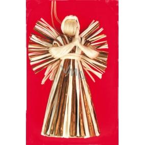 Anděl se zlatými stébly 16 cm