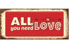 Bohemia Gifts & Cosmetics Love Condoms dárkový kondom All You Need Is Love 1 kus