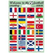 Arch Welcome to the football country samolepky a tetovačky vlajky štátov 12 x 17 cm 1 kus