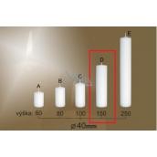 Lima Gastro hladká sviečka biela valec 40 x 150 mm 1 kus
