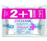 Cleanic Antibakteriální ubrousky 45 kusů 2 + 1 zdarma