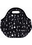 Albi Original Termo svačinová taška Kočky, Uchová potraviny déle teplé/studené, 30 × 27 × 18 cm