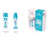 Adidas Pure Lightness parfumovaný dezodorant sklo pre ženy 75 ml + dezodorant sprej 150 ml, kozmetická sada