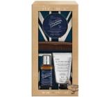 Baylis & Harding The Fuzzy Duck Zázvor a Limetka šampón na fúzy 100 ml + pleťový umývací gél 50 ml + vosk na fúzy 50 ml + hrebeň, kozmetická sada pre mužov