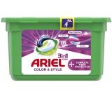 Ariel Color & Style Compl.Fiber Prot gélové vankúšiky na farebnú bielizeň 13 kusov