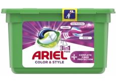 Ariel 3v1 Color & Style Complete Fiberer Protection gélové kapsule na pranie farebnej bielizne 13 kusov 353,6 g