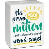 Albi Pokladnička keramická tehlička Prvý milión 11,8 x 10 x 5 cm