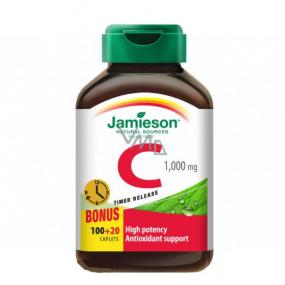 Jamieson Vitamín C s postupným uvoľňovaním počas 6-8 hodín 1000 mg doplnok stravy 120 tabliet