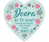 Albi Závesná plaketka srdce Dcéra 9 x 10 cm