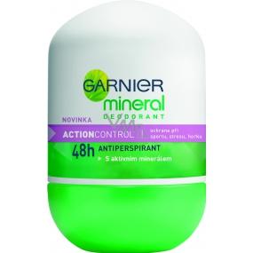 Garnier Mineral Action Control kuličkový deodorant bez alkoholu roll-on pro ženy 50 ml