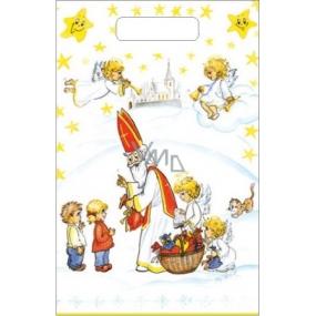 Anjel Igelitová taška 36 x 27 cm Mikuláš, deti, kostol