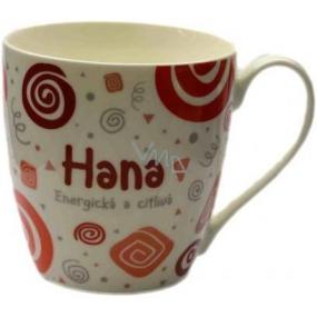 Nekupto Twister hrnek se jménem Hana červený 0,4 litru
