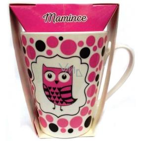Albi Dobroty Darčeková sada hrnček a sypaný čaj bez ibišteka, aromatizovaný Mamičke ružový 300 ml