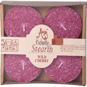 Adpal Stearín Maxi Wild Cherry - Višne vonné čajové sviečky 4 kusy