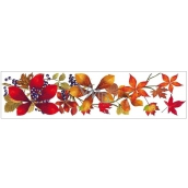 Okenné fólie bez lepidla pruh s jesenným lístím 59 x 15 cm č.4