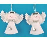 Anjel z filcu biely 7 cm, 2 kusy v sáčku