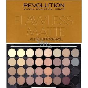 Makeup Revolution Ultra Eyeshadows paletka 32 očných tieňov Flawless Matte 16 g