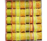 Ditipo Stuha látková s drôtikom žlto zelená 2 mx 40 mm