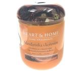 Heart & Home Mandarínka s korením Sójová vonná sviečka strednej horí až 30 hodín 115 g