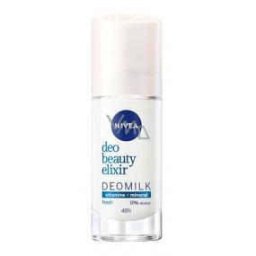 Nivea Deo Beauty Elixir Deomilk Fresh guličkový antiperspirant dezodorant roll-on 40 ml