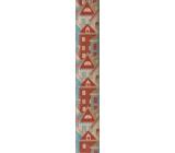 Nekupto Baliaci papier vianočné Farebné domčeky 70 x 150 cm 1 role BJ 18