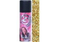 Zo Cool Glitter Sprej glitre na vlasy a telo Gold 125 ml
