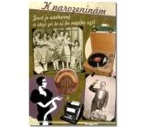 Albi Hrací přání do obálky Knarozeninám Život je jen náhoda M. Schlesingerová, Jožka Srbová 14,8 x 21 cm
