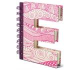 If Alphabooks Note Books Zápisník v tvare písmena E 91 x 14 x 124 mm