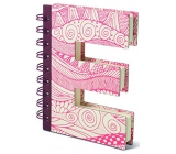 If Alphabooks Note Books Zápisník ve tvaru písmena E 91 x 14 x 124 mm