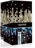 Syoss SalonPlex Hair Reconstruction šampon pro chemicky ošetřované a mechanicky namáhané vlasy 500 ml + Fiber Flex s extra silnou fixací lak na vlasy 300 ml, kosmetická sada